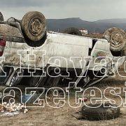 Minibüs şarampole devrildi Sürücü Yaralı