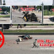 Feci kazada Otomobil ikiye Bölündü 2 ölü
