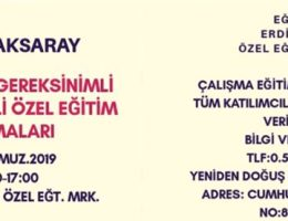 Aksaray'da Bir ilk olacak Seminer düzenleniyor