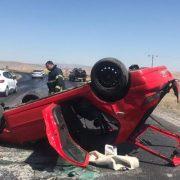 Aksaray Nevşehir yolunda kaza 1 ağır yaralı
