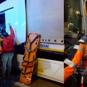 Aksaray Adana yolunda sıkışmalı kaza 1 yaralı