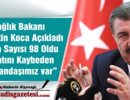 Türkiye de Koronavirüslü hasta sayısı 98 oldu 1 kişi vefat etti