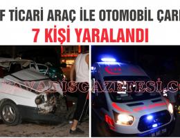 Ortaköy ilçesinde kaza 7 kişi yaralandı