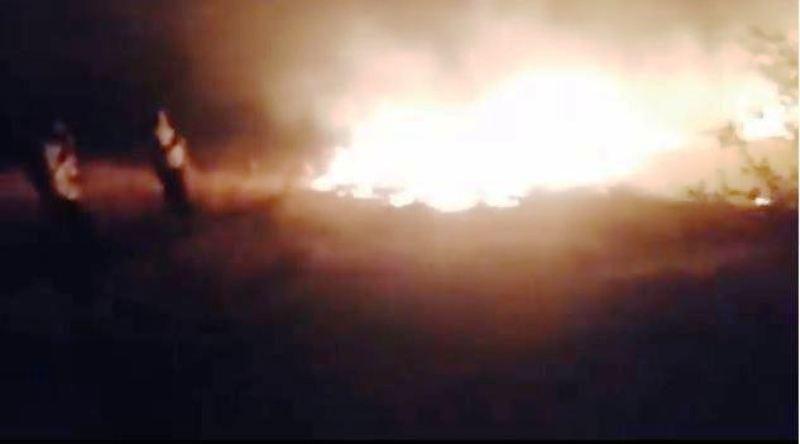 Bayburt Demirözü ilçesi Güçlü köyünde 3 farklı noktada yangın