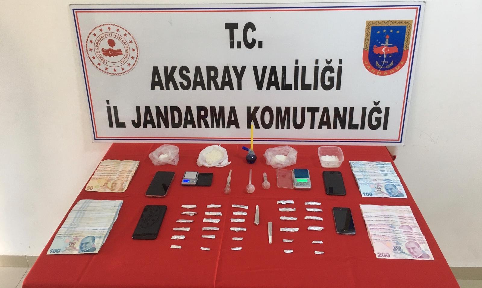 Aksaray Jandarmadan Uyuşturucu operasyonu