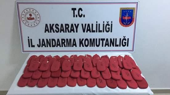 Aksaray Jandarma 15Kilo 700 gr uyuşturucu yakalandı