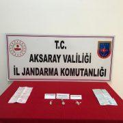 Aksaray Jandarma uyuşturucu operasyonu düzenledi
