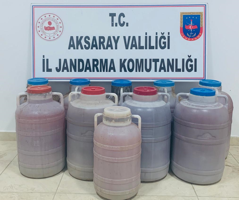Kaçak Şarap imalatı Jandarma'ya takıldı
