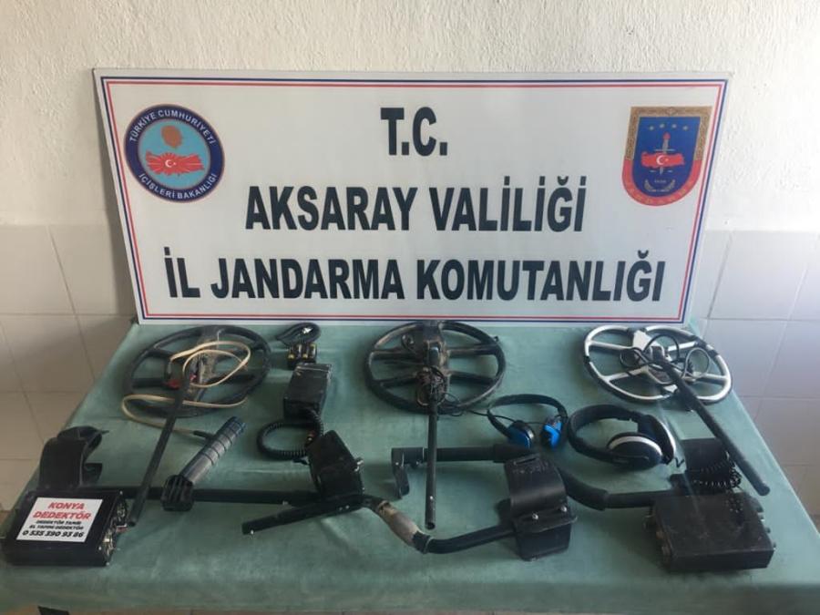 Kaçak kazı yapan 3 kişi yakalandı