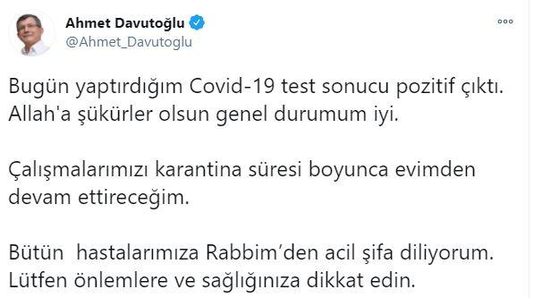 Davutoğlu'nun Testi Pozitif Çıktı