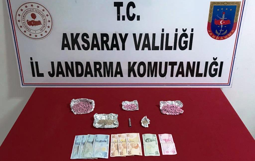 Aksaray Jandarma'dan uyuşturucu operasyonu 2 gözaltı