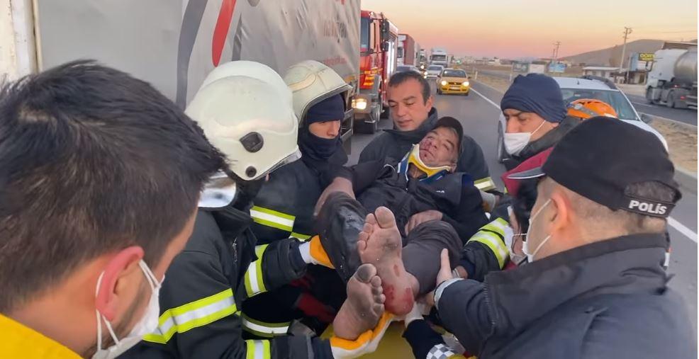 Aksaray Ankara karayolunda kaza 1 yaralı
