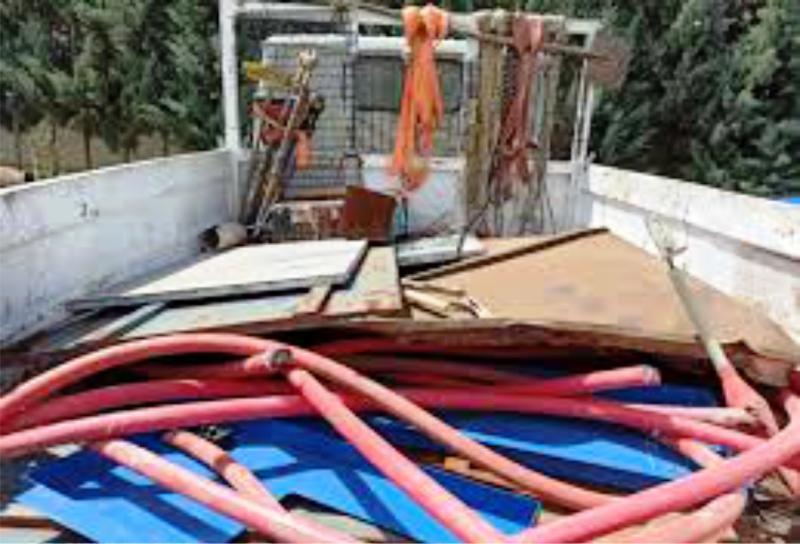 4 ton 160 kilo kablo çalan hırsız jandarmadan 274 km kaçabildi