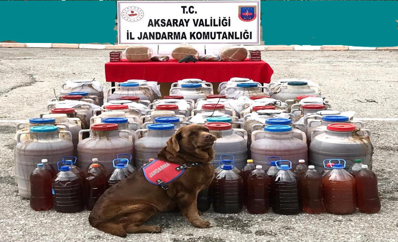 Jandarma Kaçak alkol ve tütün satıcılarına operasyon düzenledi