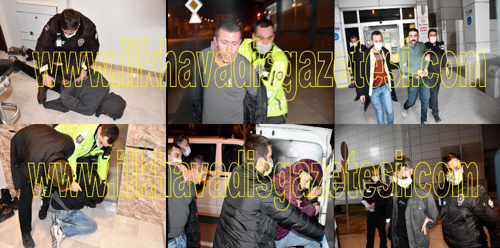 Polisten kaçtılar apartmanda kıskıvrak yakalandılar
