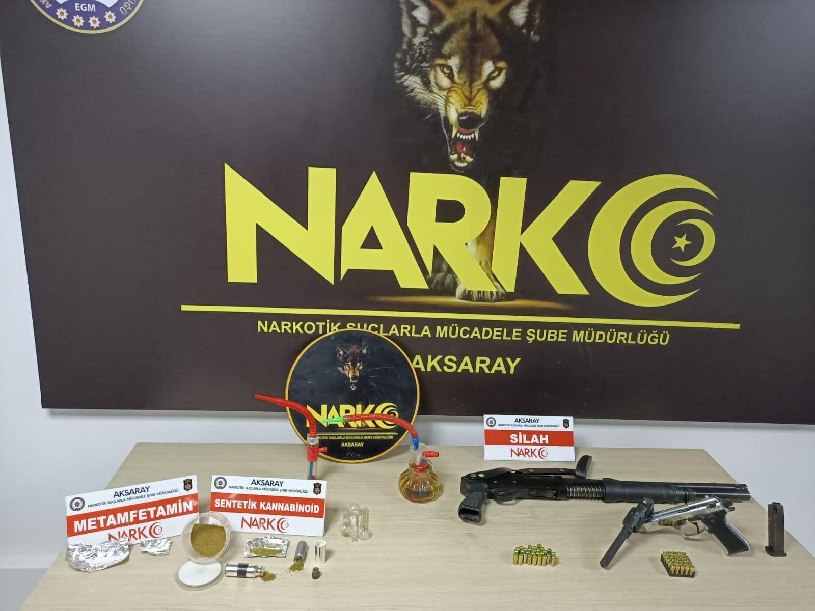 Aksaray Narkotik polisinden uyuşturucu operasyonu