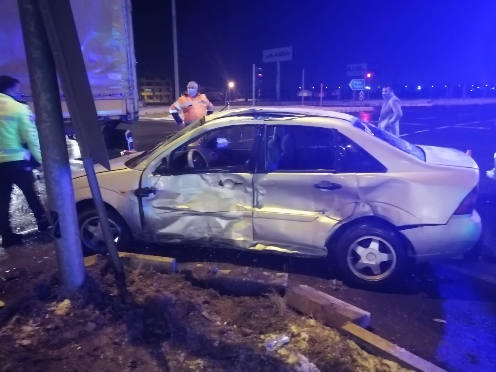 Aksaray Adana yolunda kaza 1yaralı