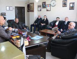 Aksaray Deva partisi yöneticileri Gazeteci Cevat Boysak'ı ziyaret etti