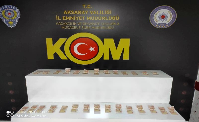 Piyasaya sahte para süren 4 kişi polis operasyonu ile yakalandı