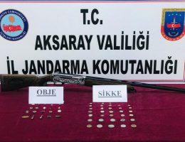 Aksaray Jandarma'dan tarihi eser operasyonu