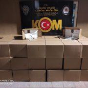 Aksaray'da bir milyon makoron yakalandı