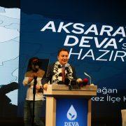 Deva Partisi Genel Başkanı Babacan'a Aksaray'da yoğun ilgi