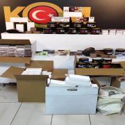 Aksaray'da Bandrolsüz tütün satan iş yerlerine polis baskını