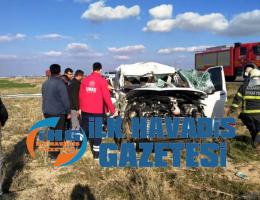 Aksaray Konya yolunda kaza 2 yaralı