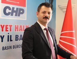 """CHP Aksaray İl Başkanı Ertürk, """"DEMOKRASİ VE SİVİL SİYASET BİZİM KIRMIZI ÇİZGİMİZDİR"""""""