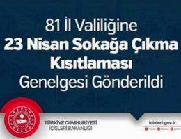 81 İl valiliğine 23 Nisan Kutlamaları Genelgesi