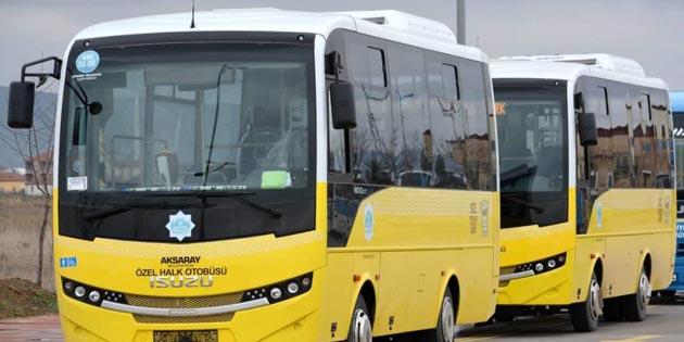 Aksaray'da Halk Otobüsleri güzergâhlarına yenisi eklendi