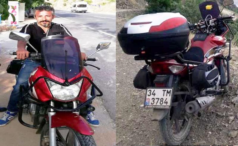 Motosiklet sürücüsü kaza yaptı Hayatını kaybetti.