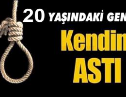 Aksaray'da Bunalıma giren 20 yaşındaki genç kendini astı