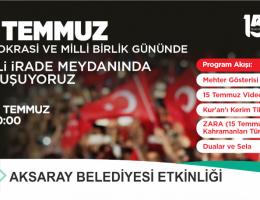 15 Temmuz Demokrasi Şehitleri Anılacak