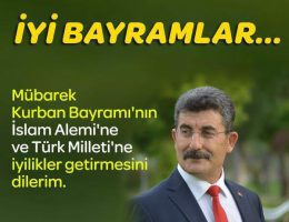 Aksaray Milletvekili Ayhan Erel Bayram Mesajı